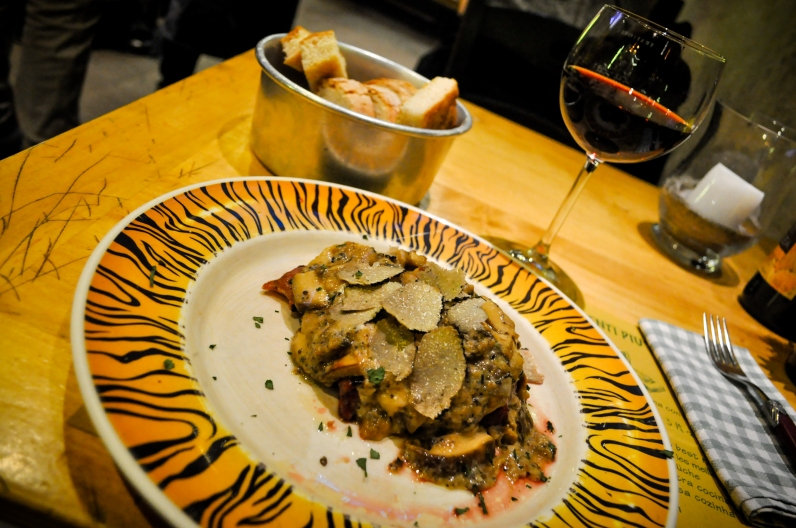 Steak, part 2, paired with Florentine Red wine