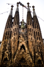 The facade done by Gaudi. Two more to be constructed by 2020. Keep in mind this was constructed in 1882. How did they do all this form?